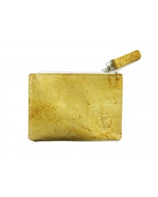 Porte-monnaie zippé miel
