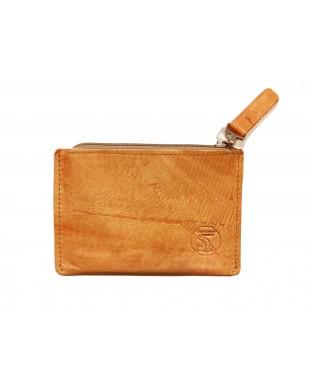Porte-monnaie zippé orange
