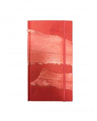 Carnet de voyage allongé rouge