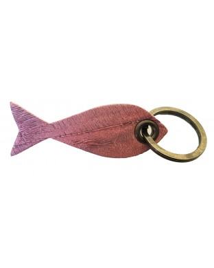 Nouveau ! Porte-clés poisson rose façade