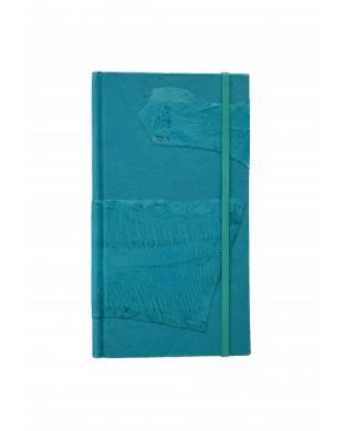 Carnet de voyage allongé turquoise