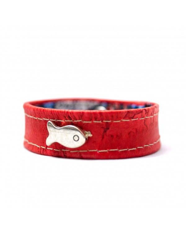 Bracelet Poisson fuchsia
