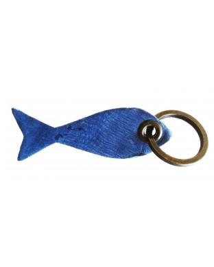 Porte-clés poisson bleu roi