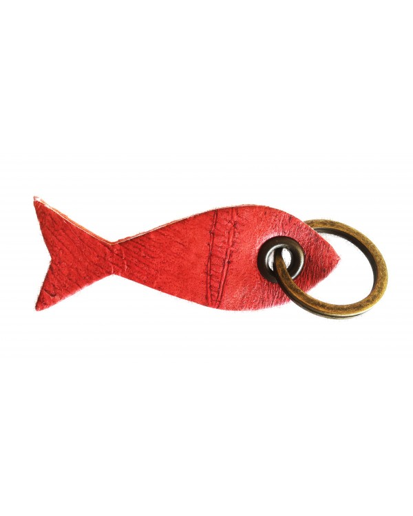 Porte-clés poisson fuchsia