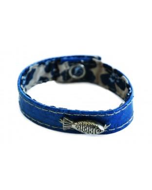 Bracelet Poisson Bleu roi