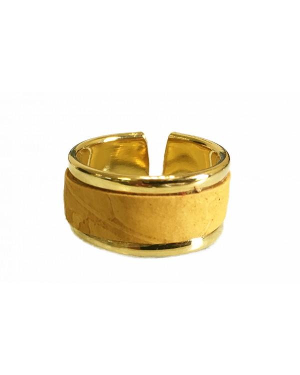 Bague en laiton doré - couleur miel
