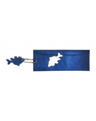 Marque-page bleu roi